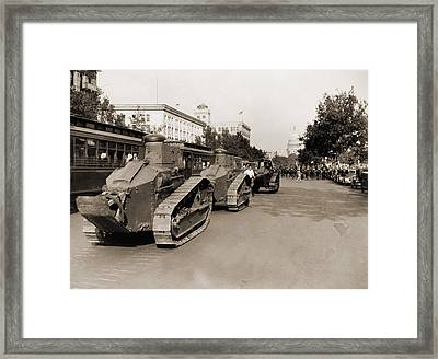 Small Tanks Are Positioned Framed Print