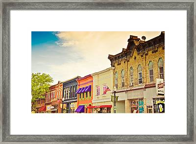 Small Town Colors Framed Print by Christina Klausen