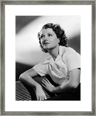 Small Town Girl, Janet Gaynor, 1936 Framed Print