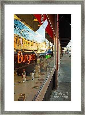 Framed Print featuring the photograph Small Town Life by Lawrence Burry