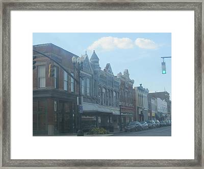 Framed Print featuring the photograph Small Town Proper by Tina M Wenger