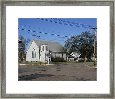 Small Town Religion Framed Print by Steve Sperry