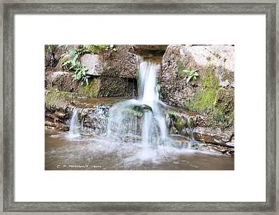 Small Waterfall Framed Print by Carolyn Postelwait