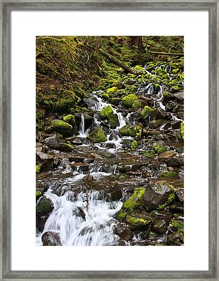 Small Waterfall Framed Print by Mark Alder