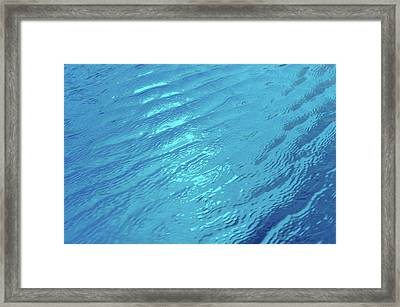 Small Waves In Blue Water Of Swimming Pool Framed Print