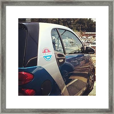 Smart And For Obama 2012 Framed Print