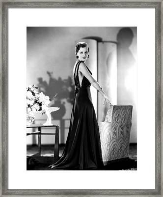 Smart Woman, Mary Astor, 1931 Framed Print