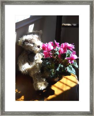 Framed Print featuring the photograph Smell The Flowers by Lynnette Johns
