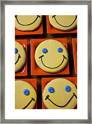Smiley Face Cookies Framed Print