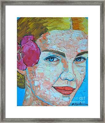 Smiling Girl Framed Print by Ana Maria Edulescu