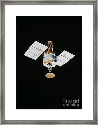 Smm Satellite In Space After Repair Framed Print