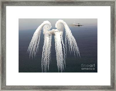 Smoke Angel Created By Wingtip Vortices Framed Print