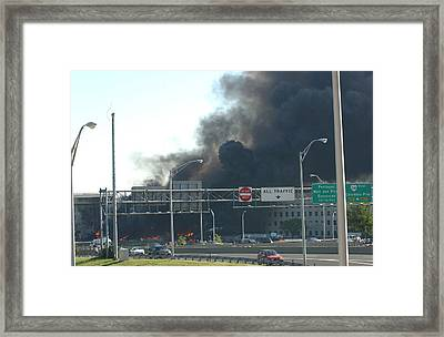 Smoke Billows From The Pentagon Moments Framed Print by Everett