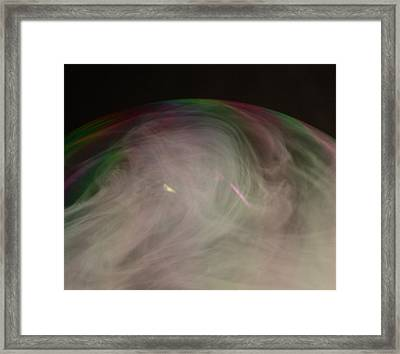 Smoke Bubble Framed Print by Cathie Douglas