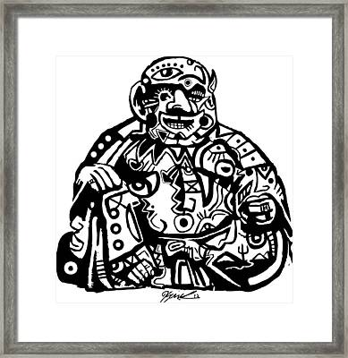 Smoke Buddah Framed Print