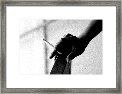 Smoke Framed Print by Dax Ian