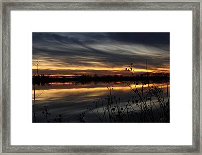Smoke On The Water Fire In The Sky Framed Print by Michael Knight