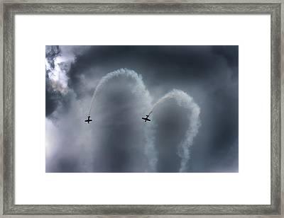 Smoke Signals Framed Print by Betsy Knapp