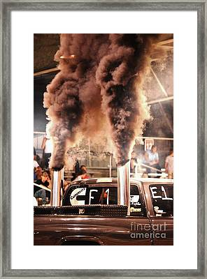 Smoke Signals Framed Print by Lynda Dawson-Youngclaus