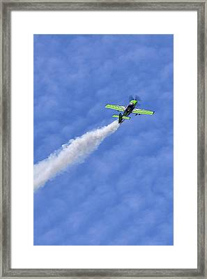 Smoke Trail Framed Print by Sara Hudock