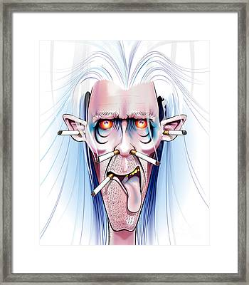 Smoked Framed Print by Brian Gibbs