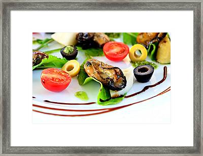 Smoked Oysters Framed Print by Dean Harte
