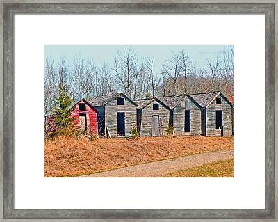 Smokehouse Row Framed Print