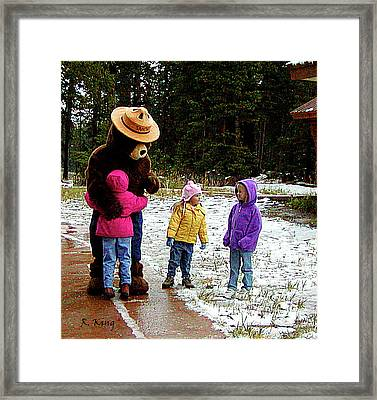 Framed Print featuring the photograph Smokey And The Girls by Roena King