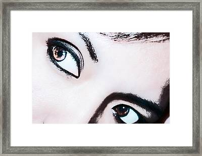 Framed Print featuring the digital art Smokey Eyes Of A Woman by Ester  Rogers