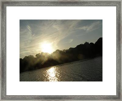 Smokey Sun Framed Print by Brityn Klehr
