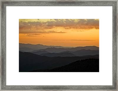 Smokey Sunset 1 Framed Print