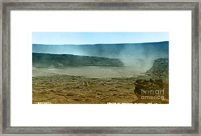 Smoking Crater Of The Volcano Kilauea Framed Print by Science Source