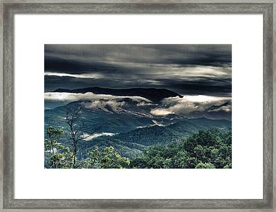 Smoky Mountain Clouds    Framed Print by Glenn Lawrence