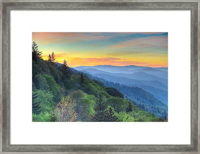 Smoky Mountain Morning Splendor Framed Print by Mary Anne Baker
