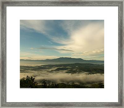 Smoky Mountain Rise   Framed Print by Glenn Lawrence