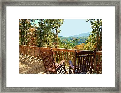 Smoky Mountain Rockers Framed Print by Mary Anne Baker