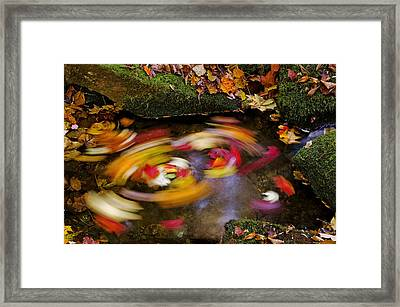 Smoky Mountain Whirlpool Framed Print by Rich Franco
