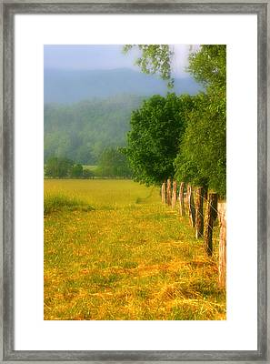 Smoky Mountains Cades Cove Framed Print by Cindy Haggerty