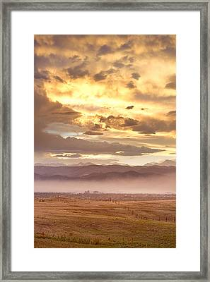 Smoky Sunset Over Boulder Colorado  Framed Print by James BO  Insogna