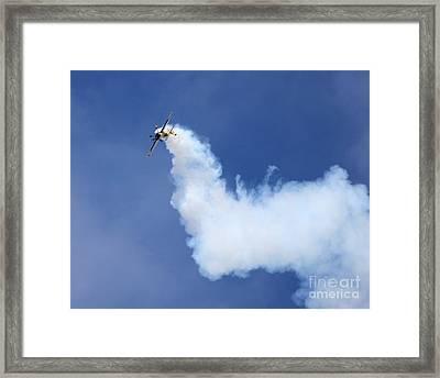 Smoky Trail Framed Print by Alex Esguerra
