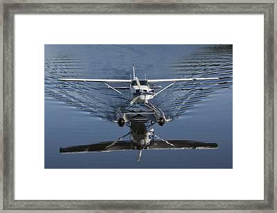 Smoooth Landing Framed Print by David Kehrli
