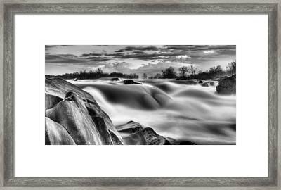Smooth Black And White Framed Print