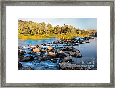 Smooth Rapids Framed Print by Robert Bales