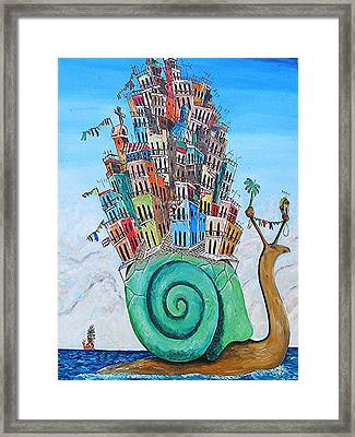 Snail Mail Framed Print
