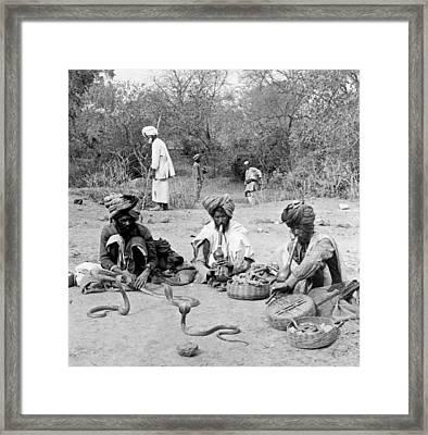 Snake Charmers In Delhi - India - C 1903 Framed Print by International  Images