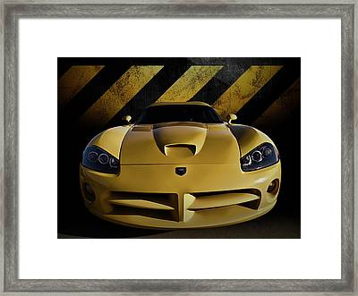 Snake Crossing Framed Print