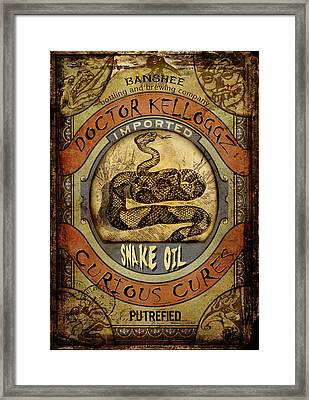 Snake Oil Framed Print