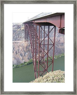 Framed Print featuring the photograph Snake River Bridge At Twin Falls by Rand Swift