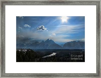 Framed Print featuring the photograph Snake River Overlook by Clare VanderVeen