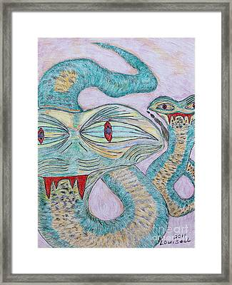 Snake Twins Framed Print by Robyn Louisell
